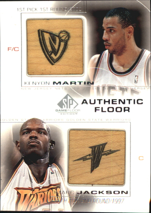 2000-01 SP Game Floor Authentic Floor Combos #C9 Kenyon Martin/Marc Jackson