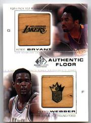 2000-01 SP Game Floor Authentic Floor Combos #C14 Kobe Bryant/Chris Webber