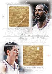 2000-01 SP Game Floor Authentic Floor Combos #C18 Karl Malone/John Stockton