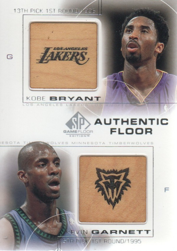 2000-01 SP Game Floor Authentic Floor Combos #C20 Kobe Bryant/Kevin Garnett