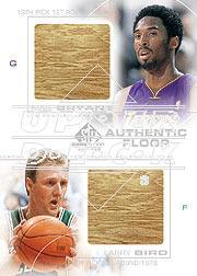 2000-01 SP Game Floor Authentic Floor Combos #C22 Kobe Bryant/Larry Bird