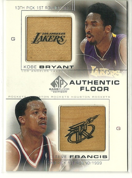 2000-01 SP Game Floor Authentic Floor Combos #C26 Kobe Bryant/Steve Francis