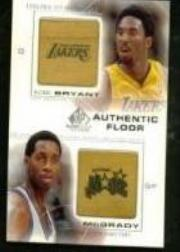 2000-01 SP Game Floor Authentic Floor Combos #C27 Kobe Bryant/Tracy McGrady