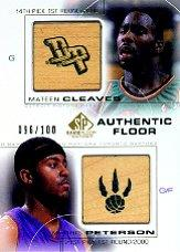 2000-01 SP Game Floor Authentic Floor Combos Gold #C29 Mateen Cleaves/Morris Peterson