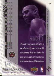 2000-01 SPx #79 Vince Carter back image