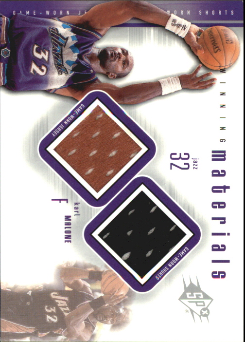 2000-01 SPx Winning Materials #MM1 Karl Malone JSY/Shorts