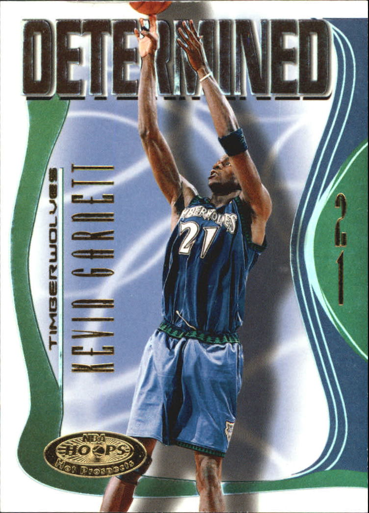 2000-01 Hoops Hot Prospects Determined #D10 Kevin Garnett