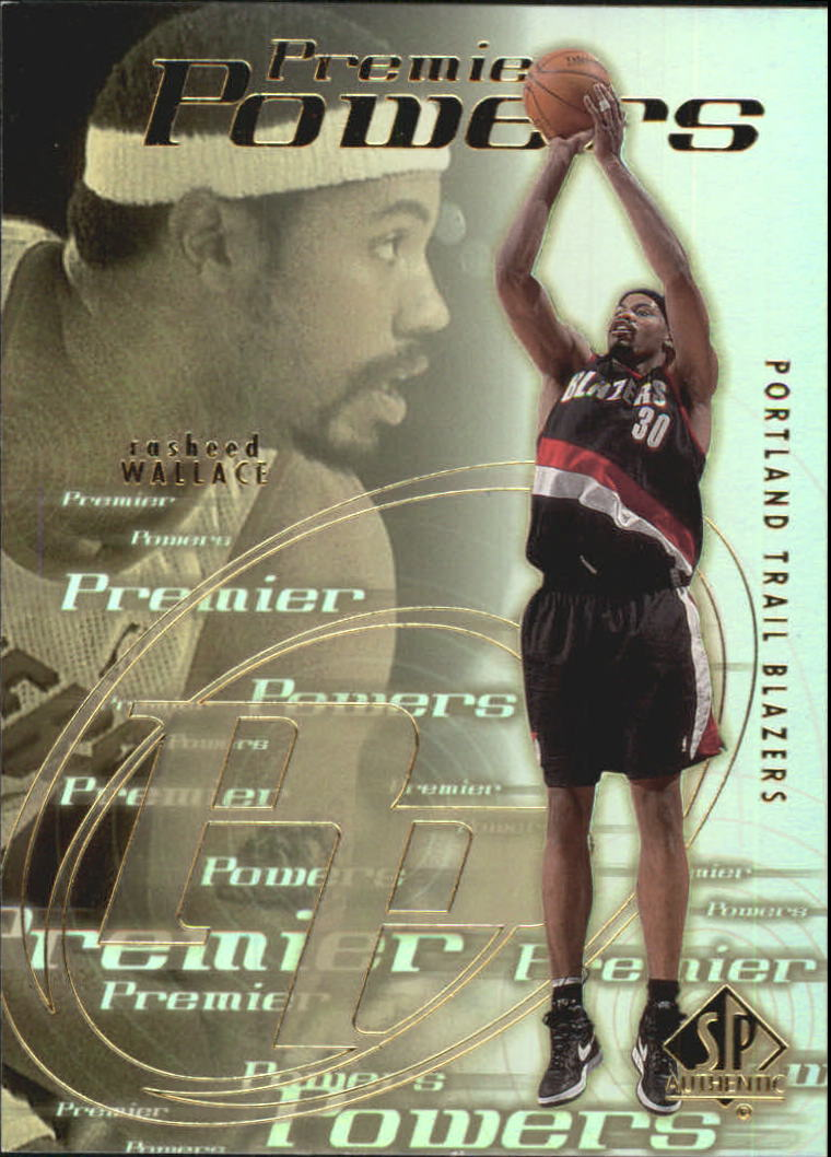 2000-01 SP Authentic Premier Powers #P4 Rasheed Wallace