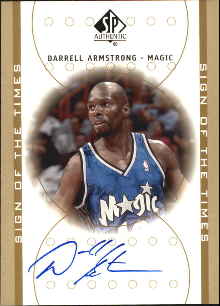 2000-01 SP Authentic Sign of the Times #AR Darrell Armstrong