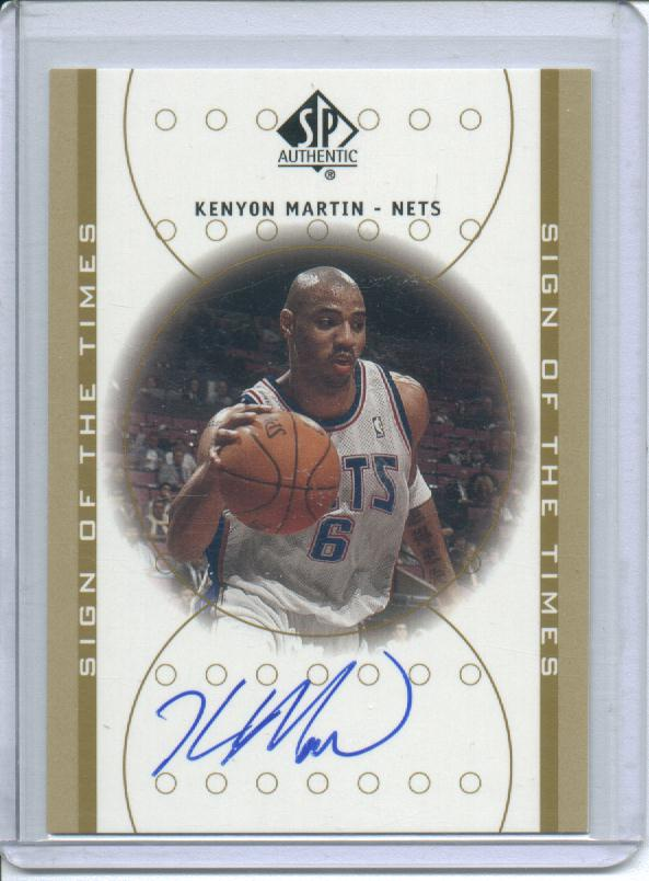 2000-01 SP Authentic Sign of the Times #KM Kenyon Martin