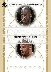 2000-01 SP Authentic Sign of the Times Double #KGKM Kevin Garnett/Kenyon Martin