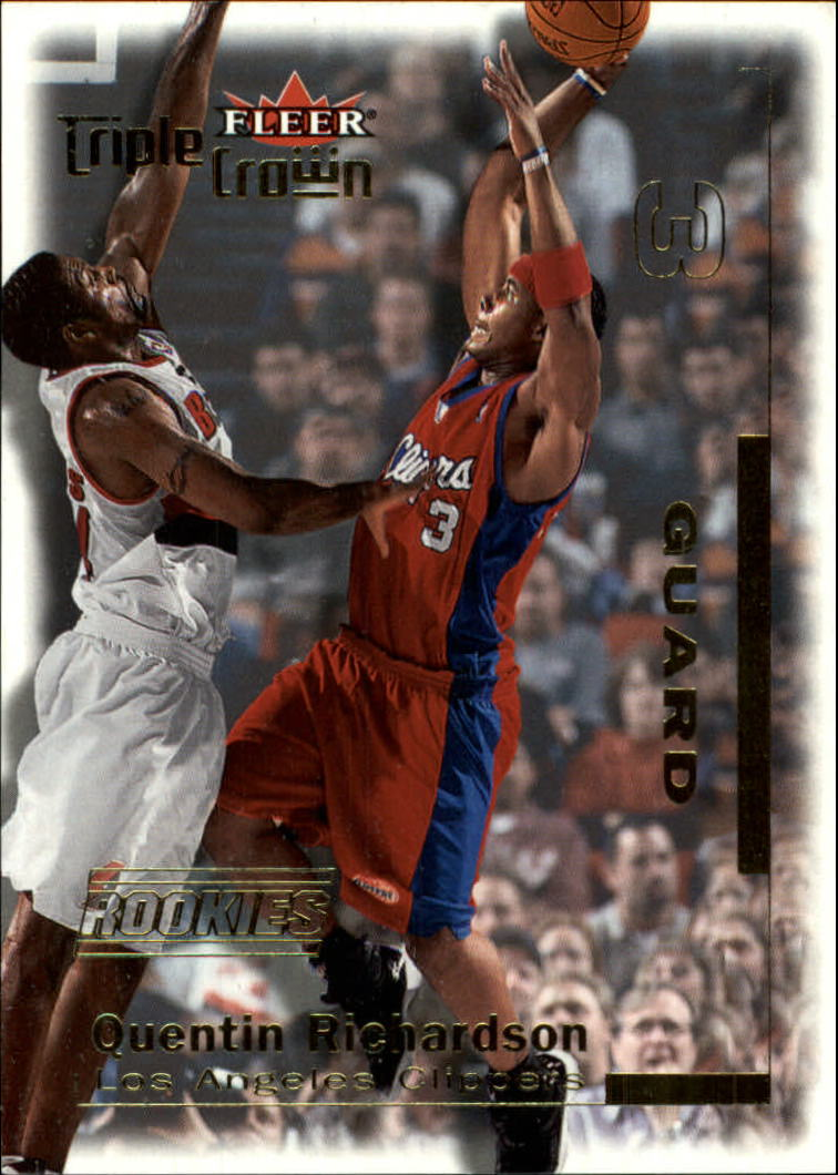 2000-01 Fleer Triple Crown #1 Quentin Richardson RC