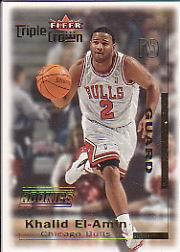 2000-01 Fleer Triple Crown #2 Khalid El-Amin RC