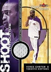 2000-01 Fleer Triple Crown Shoot Arounds #1 Vince Carter