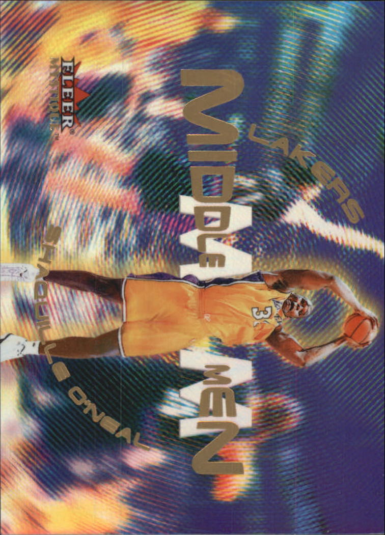 2000-01 Fleer Mystique Middle Men #MM1 Shaquille O'Neal