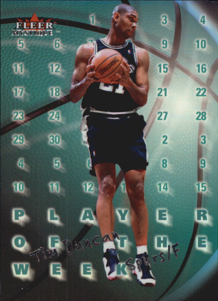 2000-01 Fleer Mystique Player of the Week #PW4 Tim Duncan