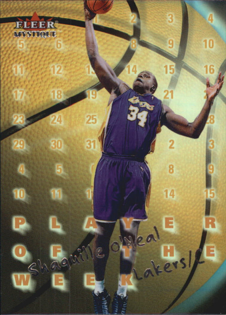 2000-01 Fleer Mystique Player of the Week #PW5 Shaquille O'Neal