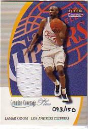 2000-01 Fleer Genuine Genuine Coverage Plus #4 Lamar Odom