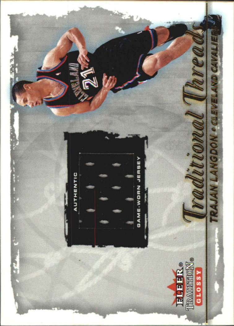 2000-01 Fleer Glossy Traditional Threads #3 Trajan Langdon