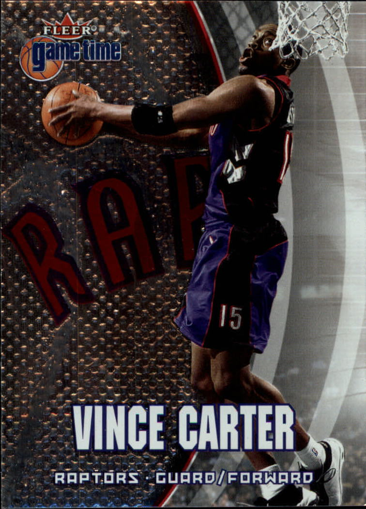 2000-01 Fleer Game Time #1 Vince Carter