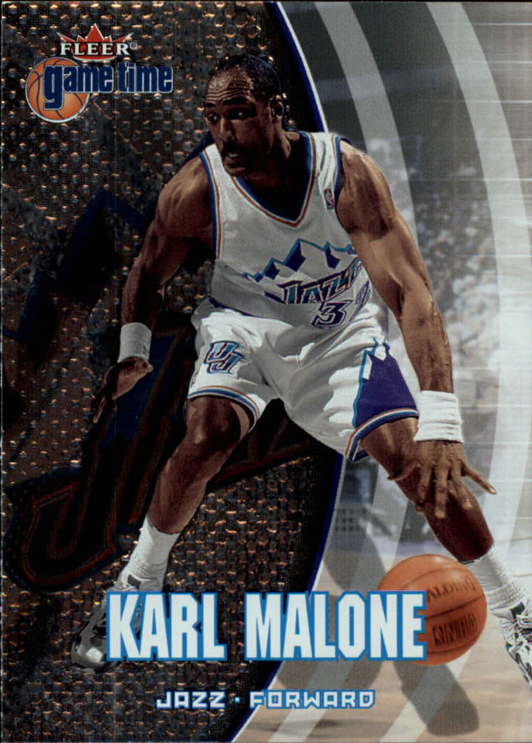2000-01 Fleer Game Time #7 Karl Malone