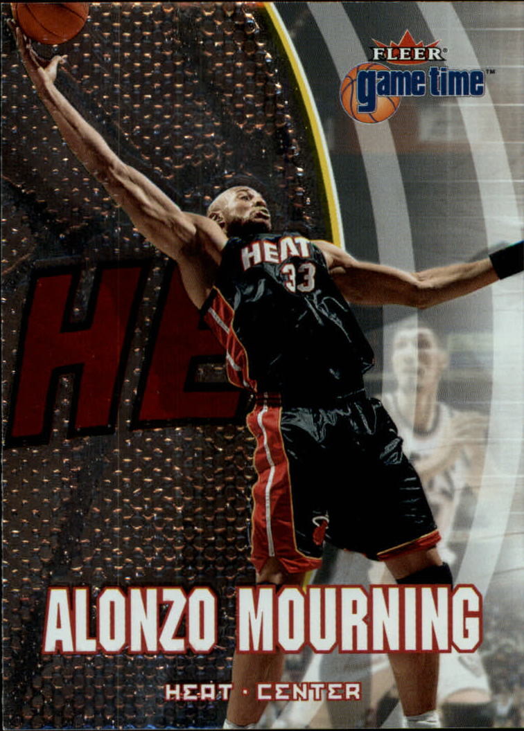 2000-01 Fleer Game Time #10 Alonzo Mourning