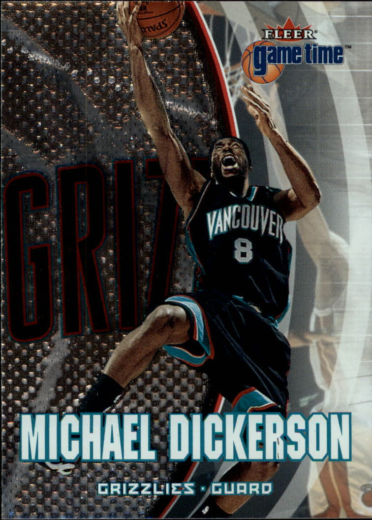 2000-01 Fleer Game Time #33 Michael Dickerson