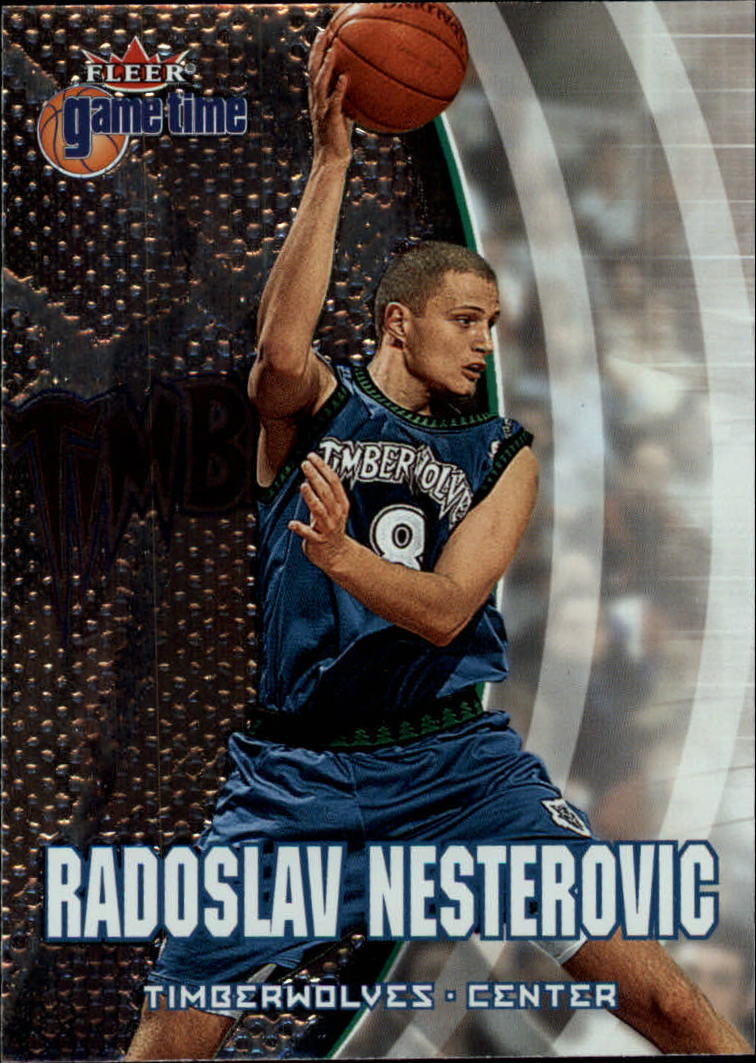 2000-01 Fleer Game Time #41 Radoslav Nesterovic