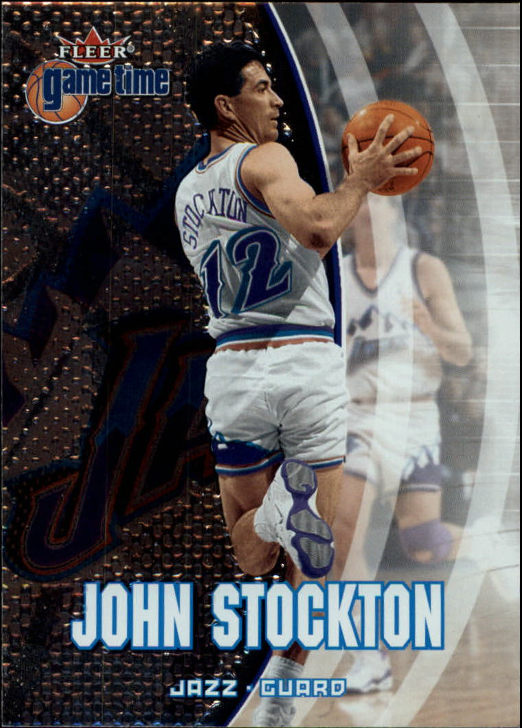 2000-01 Fleer Game Time #46 John Stockton