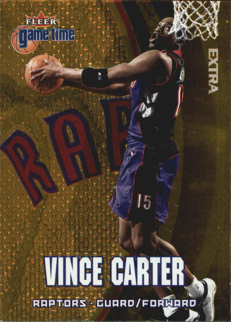 2000-01 Fleer Game Time Extra #1 Vince Carter