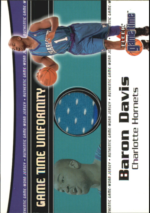2000-01 Fleer Game Time Uniformity #4 Baron Davis