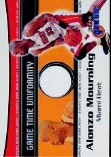2000-01 Fleer Game Time Uniformity #11 Alonzo Mourning
