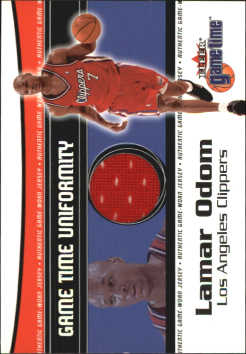 2000-01 Fleer Game Time Uniformity #12 Lamar Odom