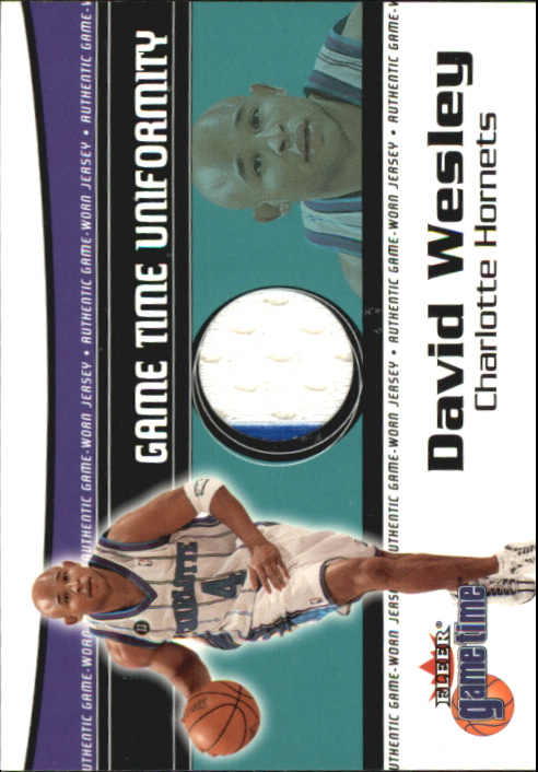2000-01 Fleer Game Time Uniformity #23 David Wesley