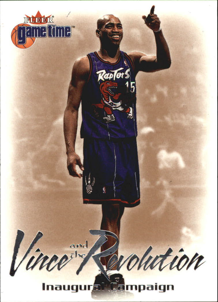 2000-01 Fleer Game Time Vince and the Revolution #1 Vince Carter