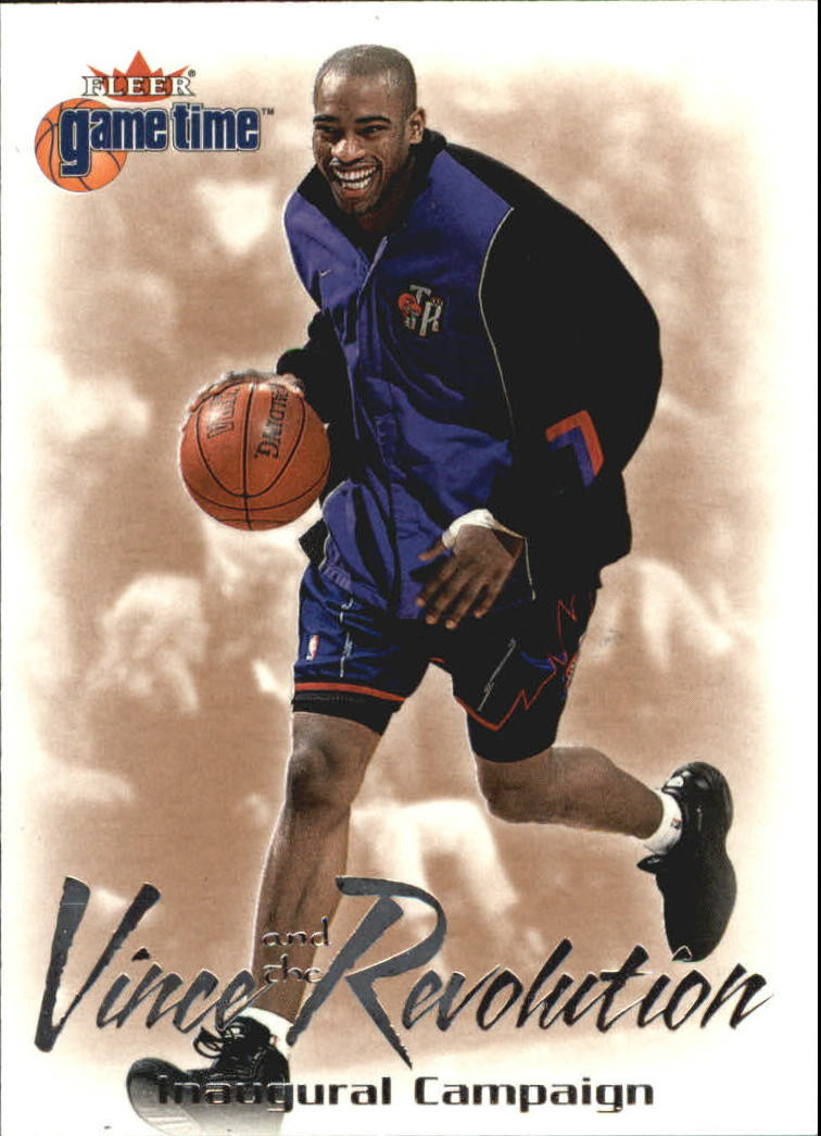 2000-01 Fleer Game Time Vince and the Revolution #4 Vince Carter