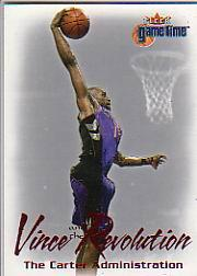 2000-01 Fleer Game Time Vince and the Revolution #9 Vince Carter