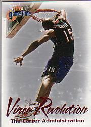 2000-01 Fleer Game Time Vince and the Revolution #10 Vince Carter