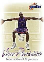 2000-01 Fleer Game Time Vince and the Revolution #11 Vince Carter