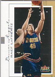 2000-01 Fleer Genuine #49 Raef LaFrentz