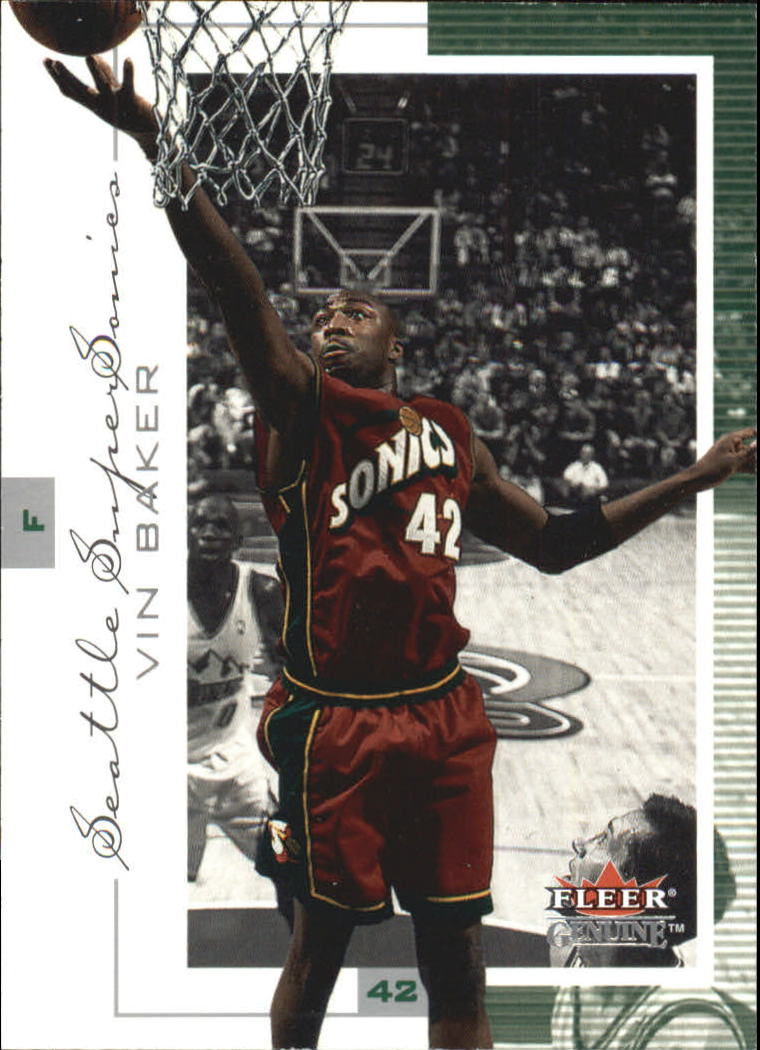 2000-01 Fleer Genuine #89 Vin Baker