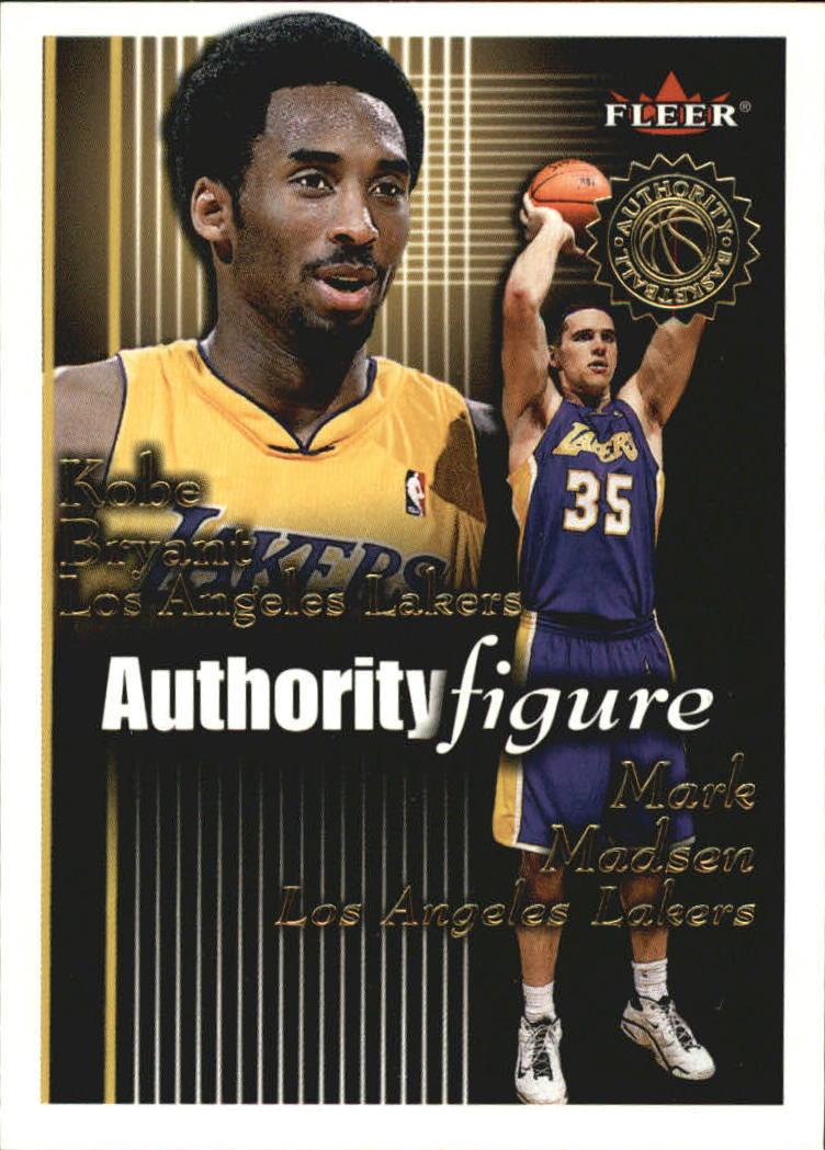 2000-01 Fleer Authority Figures #AF2 Mark Madsen/Kobe Bryant