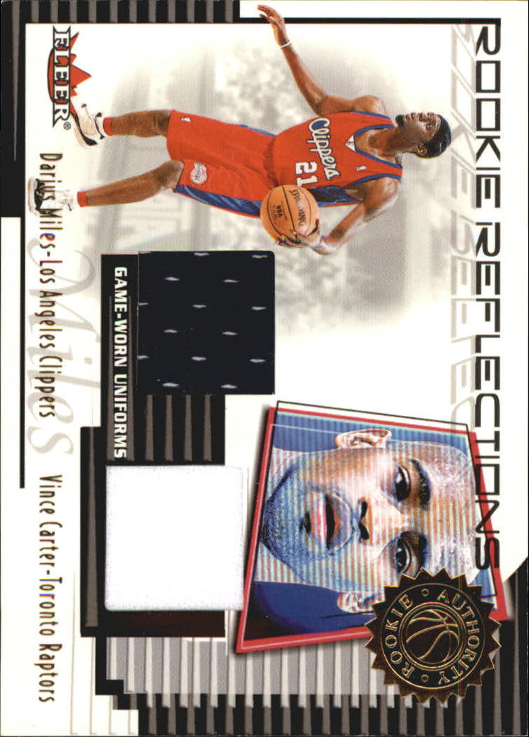 2000-01 Fleer Authority Rookie Reflections #RR17 Vince Carter/Darius Miles