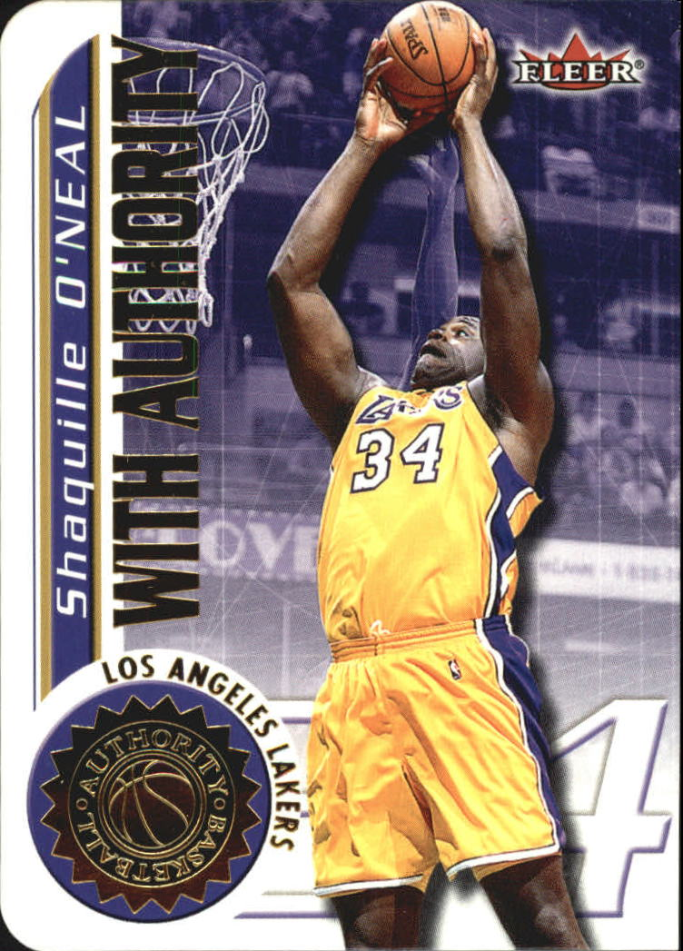 2000-01 Fleer Authority With Authority #WA14 Shaquille O'Neal