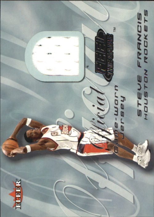 2000-01 Fleer Feel the Game #8 Steve Francis