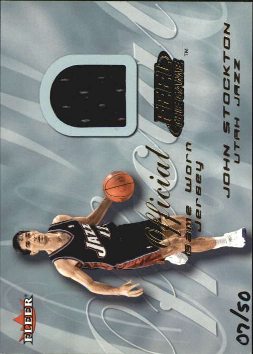 2000-01 Fleer Feel the Game Gold #33 John Stockton