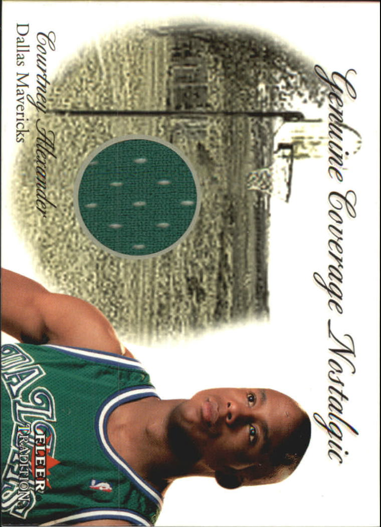 2000-01 Fleer Genuine Coverage Nostalgic #1 Courtney Alexander