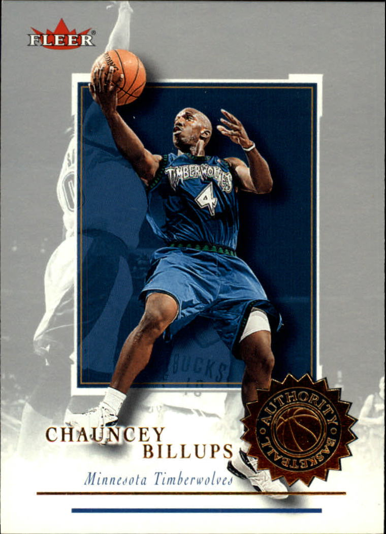 2000-01 Fleer Authority #63 Chauncey Billups