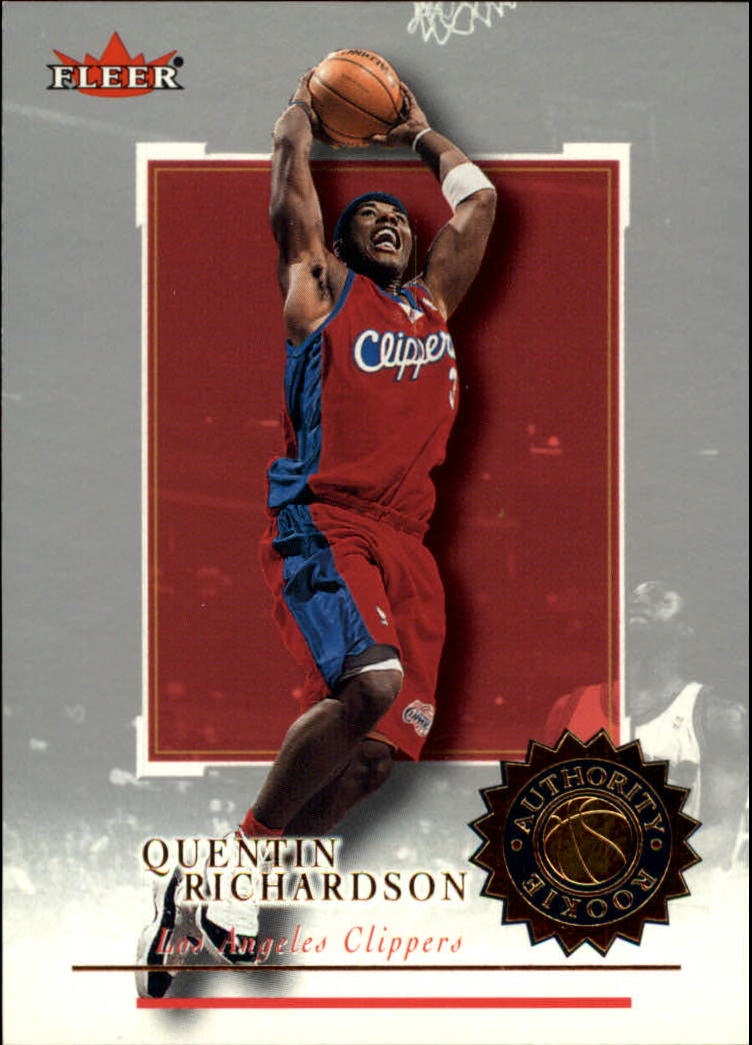 2000-01 Fleer Authority #122 Quentin Richardson RC