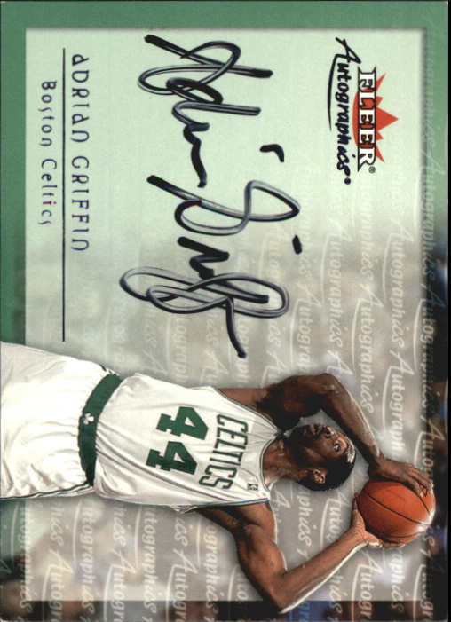 2000-01 Fleer Autographics #18 Adrian Griffin